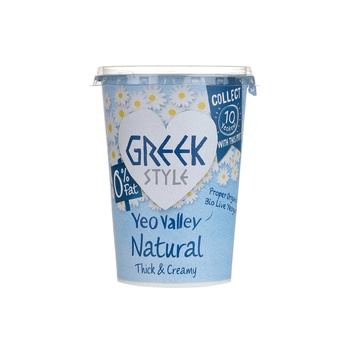 Yeo Valley Greek Style 0% Fat Natural Organic Yoghurt 450g