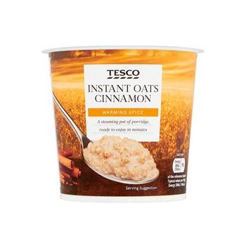 Tesco Instant Oats Cinnamon Porridge 55g