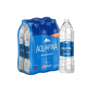 Aquafina Bottled Drinking Water, 1.5 Literx6