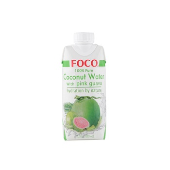 Foco UHT Coconut Water With Pink Guava 330ml