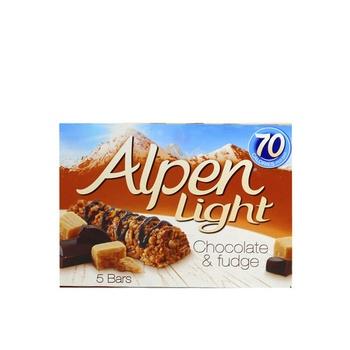 Alpen Breakfast Bar Light Chocolate & Fudge 5 X 19g