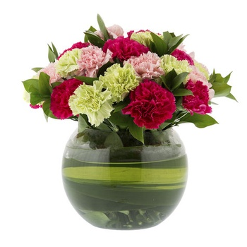 Fishbowl Glass Vase Arrangement