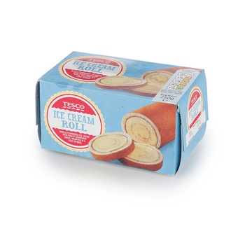 Tesco Ice Cream Roll 250g