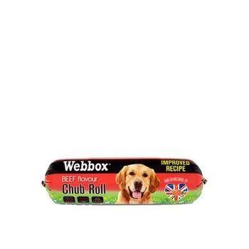 Webbox Dog Treat Chub Rolls Beef 800g