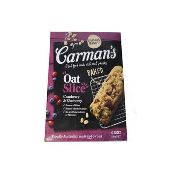 Carman'S Oat Slice Cranberry & Blueberry 210g