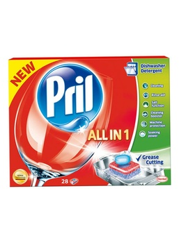 Pril All in One Dish Washing Tabs 28g