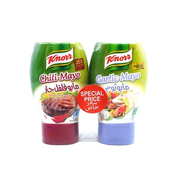 Knorr Chilimayo 295Ml+ Garlic Mayonaise 266ml