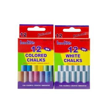 Innokids 12 White Chalk + 12 Color Chalk