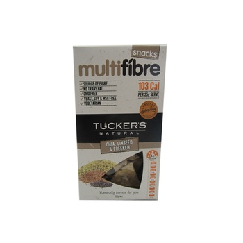 Tuckers Natural Multifibre Chia Linseed & Freekeh Snacks 100g