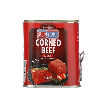 Purefoods Spicy Halal Corned Beef 340g (Red Label)