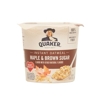 Quaker Instant Oat meal Express Cup Brown Sugar 1.69oz