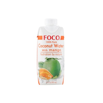 Foco UHT Coconut Water With Mango 330ml