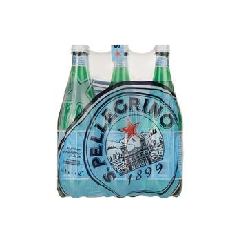 S.Pellegrino Sparkling Natural Mineral Water PET Bottle 1L 6-pack