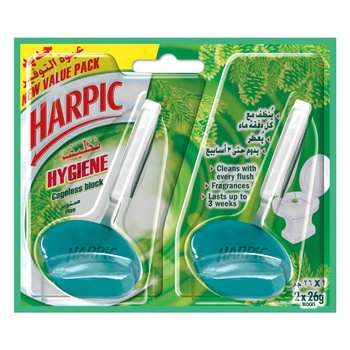 Harpic Toilet Bowl Cleaner Pine 2 X 26g