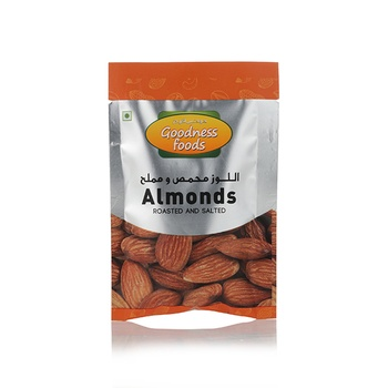 Goodness Foods Almonds Roasted & Salted Packet 20g