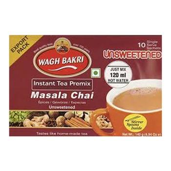 Wagh Bakri Unsweetened Masala Instant Tea Premix 140g