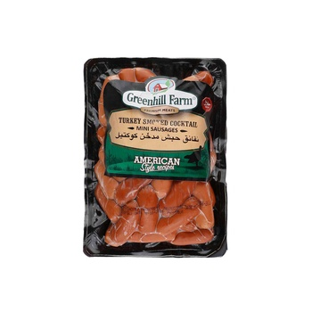 Green Hill Farm Turkey Smkd Cktl Mini Sausg 400Gm