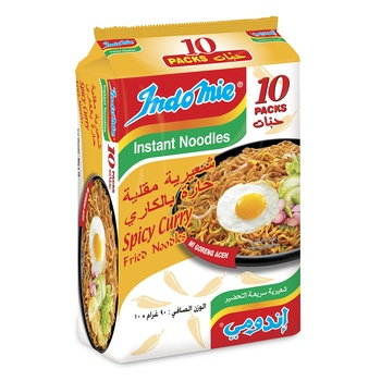 Indomie Spicy Curry Fried Noodles 90g Pack of 10