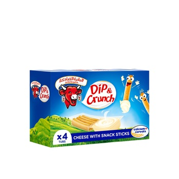 La Vache qui rit Dip & Crunch Cheese and Breadstick Snack 4 Pieces 140g