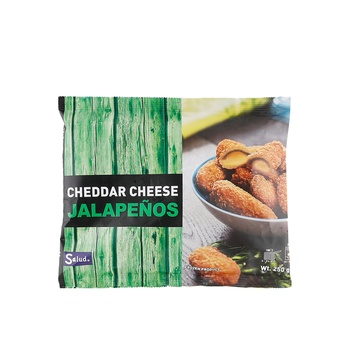Salud Hot Cheddar Cheese Jalapenos 250g