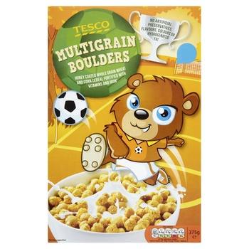 Tesco Multigrain Boulders Cereal 375g