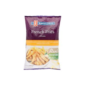 Emborg French Fries Crinckle cut 1kg