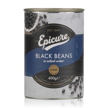 Epicure Black Beans Salted Wtr 400G