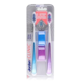 Jordan Shiny White Soft Clinic Toothbrush - 2 pcs