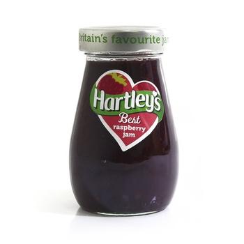 Hartleys best jam raspberry  340g