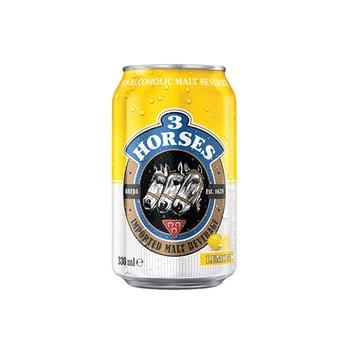 3 Horses Non Alcoholic Malt Beverage Lemon (Bottle) 330ml