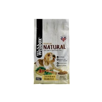 Webbox Natural Dog Food Complete Adult Chicken Dry 2.25kg