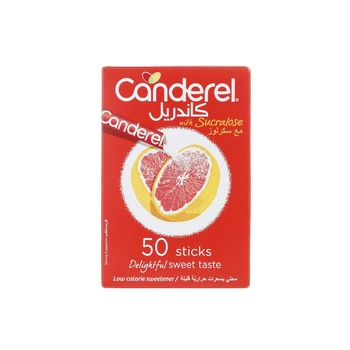 Canderel Powder Low Calorie Sweetener 50's (Red Sticks)