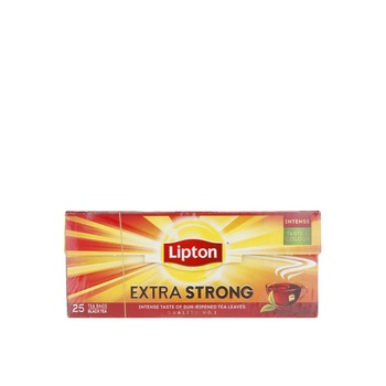 Lipton Tea Bag Extra Strong Black Tea 25's