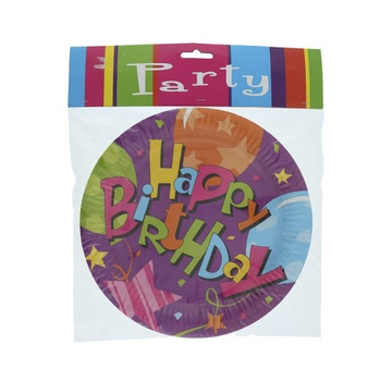 Birthday Day Paper Plates- 6pcs pack