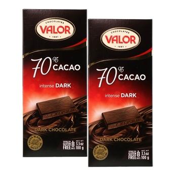 Valor Milk Chocolate No Sugar 2x100G