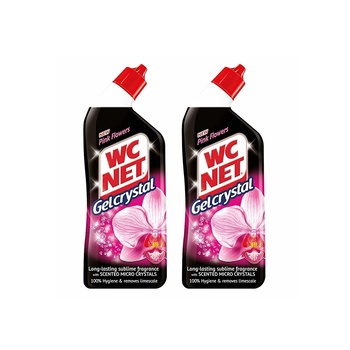 Wc Net Gel Crystal Pink Flowers 750ml Pack Of 2
