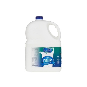 Al Rawabi Fresh Milk Full Cream 3.78ltr