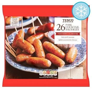 Tesco 26 Pork Cocktail Sausage312G