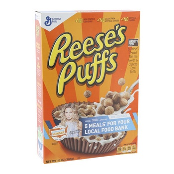 General Mills Reeses Peanut Butter Puffs Cereal 365g