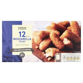 Tesco 12 Mozzarella Sticks 180G