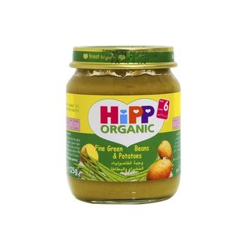 Hipp Organic Baby Food Fine Green Beans & Potatoes 125g