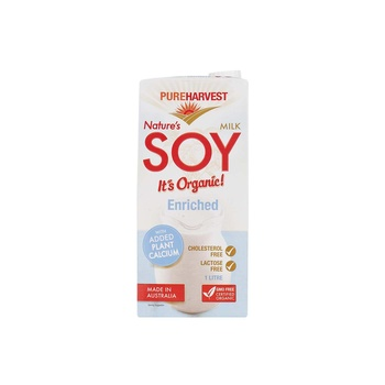 Pure Harvest Natures Organic Soy Milk 1ltr