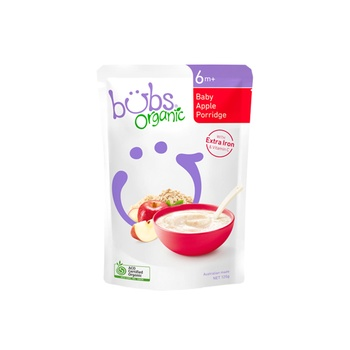 Organic Bubs Baby Apple Porridge 125g