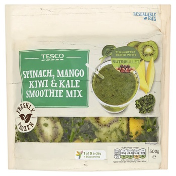 Tesco Spinach, Kiwi & Mango Superfood Smoothie 500g