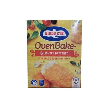 Birds Eye Oven Bake  6 Original Lightly Battered Hoki Fish Fillets 425g