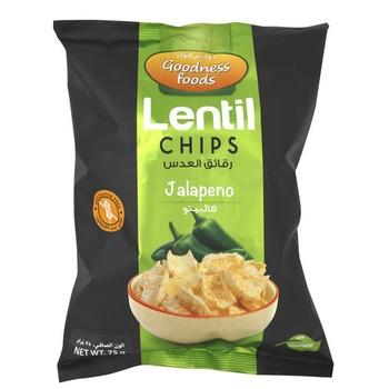 Goodness Foods Lentil Jalapeno 75g