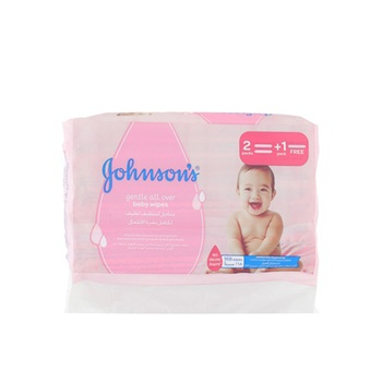 Johnson's Wipes Gentle Cleansing 56 Pieces (2 + 1 Free)