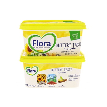 Flora Buttery 500g Pack of 2