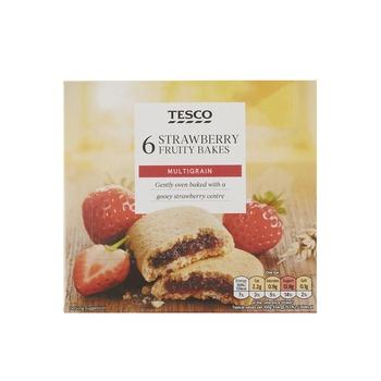 Tesco 6 Strawberry Fruity Bake 222g
