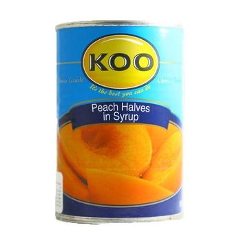 Koo Peach Halves In Syrup 410g